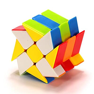 CuberSpeed Windmill 3x3 stickerless Bright Magic Cube Wheel Color Fenghuolun 3x3x3 Speed Cube Puzzle: Toys & Games