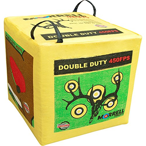 Bag Archery (Morrell 131  Double Duty 450 FPS Field Point Archery Bag Target - for Crossbows, Compounds, and Airbows)