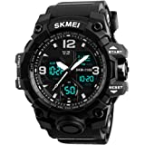 Analog Digital Watch for Men, Waterproof Military Watch with Dual Display Alarm Stopwatch Calendar EL Backlight Sports…