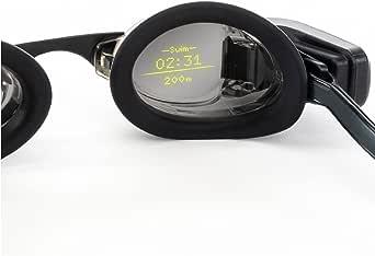 FORM Smart Swim Goggles, Fitness Tracker voor Zwembad en Open Water met een Doorzichtig Display dat uw Prestatiemetingen Toont tijdens het Zwemmen
