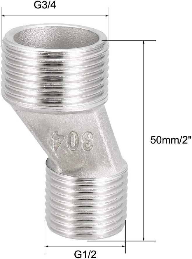 Grifo de ducha de acero inoxidable 304 con brazo oscilante ajustable G1//2-G3//4 Sourcingmap