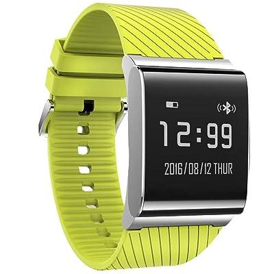 Intelligent Bracelet Bluetooth Wristband IP67 étanche Calorie Tracker Sport poignet Podomètre Santé Sommeil Moniteur Wristband message Call Remind Band Anti Perdu Pour Android IOS , sports green