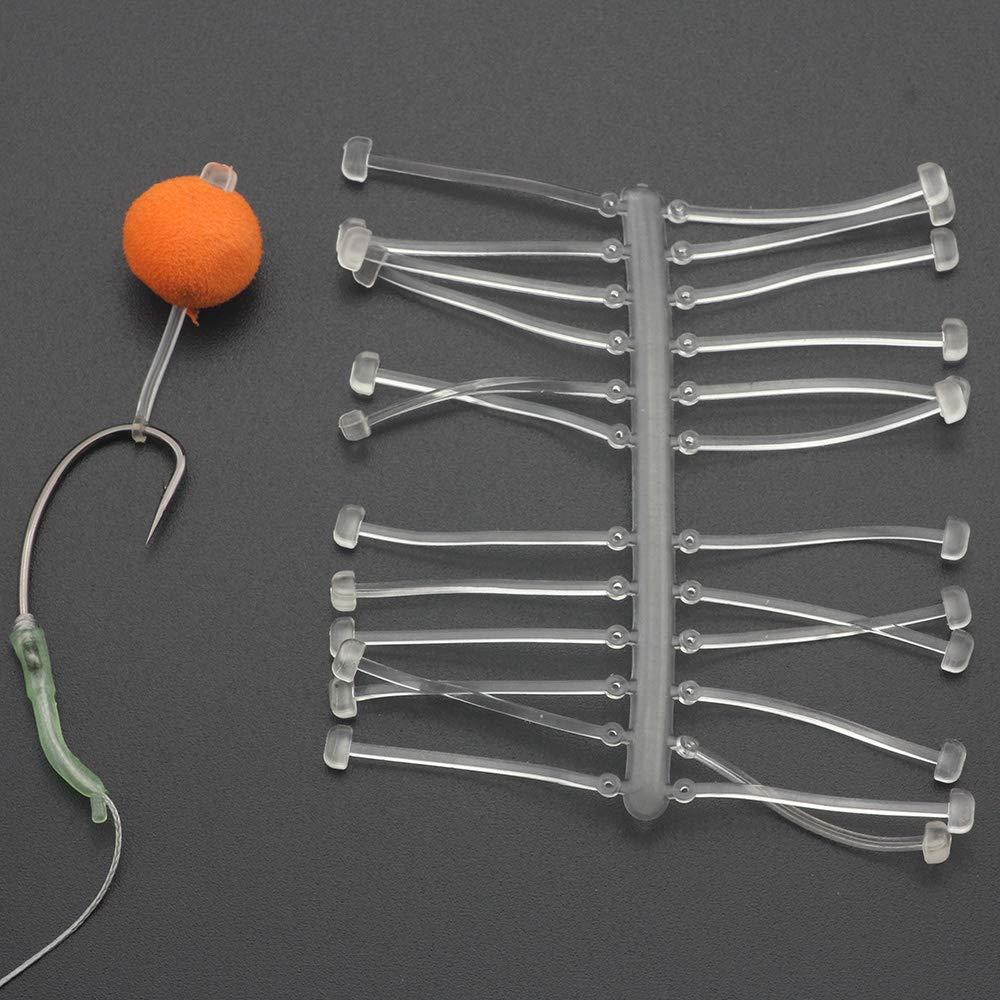 6Pcs Carp Fishing Tackle Hair Rig Boilie Stops Carp Rig Bait Barbed Hooks