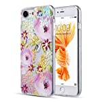 Luxmo Funda Case para iPhone 8 and iPhone 7 Protector Candy Tornasol, Color Flores