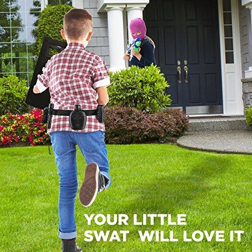 Ultimate tout-en-un ensemble de jeu de rôle policier pour les enfants - Comprend SWAT Shield, ceinture réglable, lampe… 4