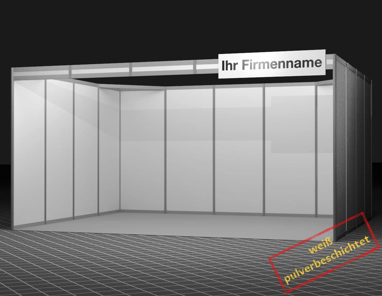 Achte display system Feria Stand Serie Stand 500 x 400 cm Polvo ...