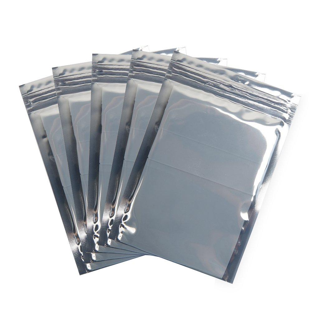 """HRX Package 100pcs Premium Antistatic Bag, 4""""X6"""" Resealable Zipper Bag for SSD HDD and Other Electronic Devices"""
