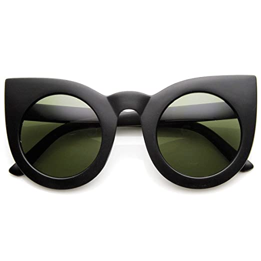 0a646d2732b4a zeroUV - 70s Womens Large Oversized Retro Vintage Cat Eye Sunglasses For  Women with Round Lens