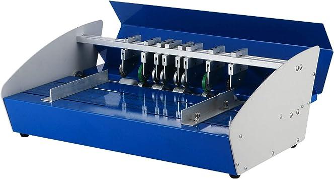 VEVOR Rillmaschine 460 mm B/ürobedarf und Schreibwaren mit Rundpresstechnik Karten A4-Papiere Creasing Maschine 220 V Elektrische Nutmaschine 540 mm x 370 mm x 230 mm Falzmaschine f/ür Dateien