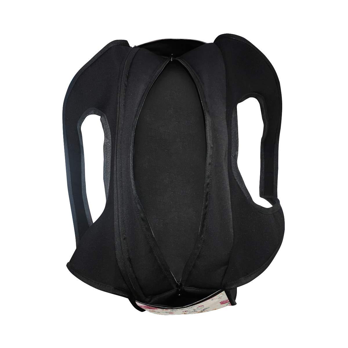 Pink Floral Vintage Pattern Women Sports Gym Totes Bag Multi-Function Nylon Travel Shoulder Bag