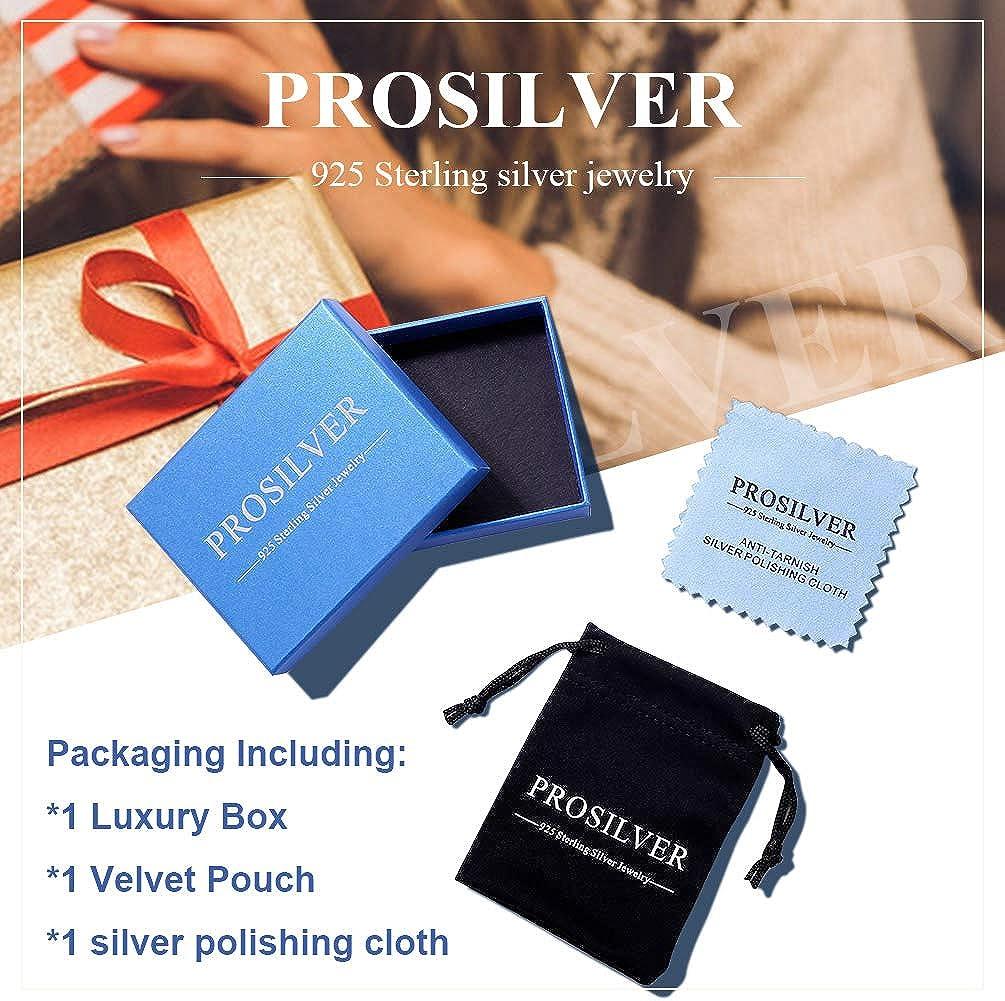 PROSILVER Bague Ouverte Argent 925 pour Homme Femme Largeur 5mm//10mm//15mm Taille R/églable Surface Poli//de Tr/éfilage Cadeau Bijoux Parfait
