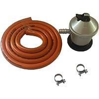 Kit cocina a gas portatil - Incluye regulador de gas, tubo butano de 1.5 metros y dos abrazaderas