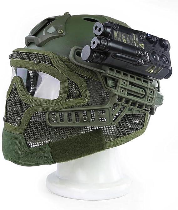 Gocher Casco con Gafas Protectoras y m/áscara de Malla para Juegos de Paintball de Airsoft