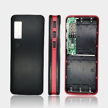 Batería Banco , DIY Dual USB Power Bank Shell Caja Portátil 8 x 18650 Externo Caso con Pantalla LCD (sin batería) 5 V 7 A: Amazon.es: Electrónica
