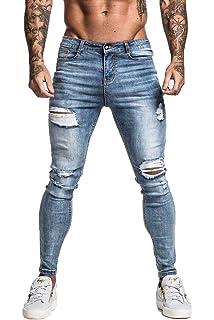 c1e8fdd437 NUWFOR Men's Printed Denim Cotton Vintage Wash Hip Hop Work Trousers ...