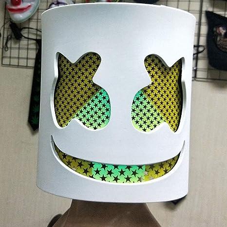 Sarplle Marshmallow LED Mask DJ Copricapo Maschera di Halloween Adulto Costume Cosplay Casco per Cosplay Party in Costume