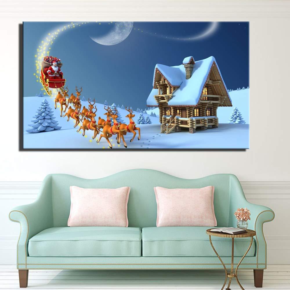Decoración de Navidad Carteles de Pared Sin Marco Gran ...