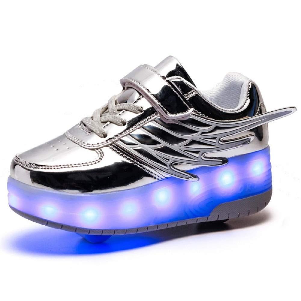Skybird UK Unisex Bambino LED Scarpe con Rotelle Automatiche