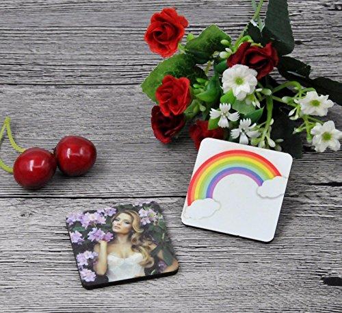 12pcs Sublimation blank diy customize Fridge Magnets square Refrigerator Sticker Sublimation Blank Sublimation Refrigerator Sticker