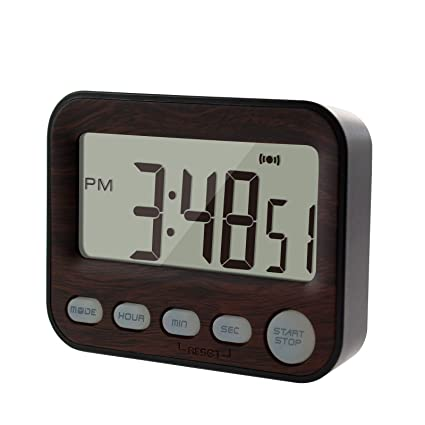 KingL Interval Timer Stopwatch for Workout, Cooking, Sports, Travel, Camping - Mini Digital Alarm Clock for Bedrooms