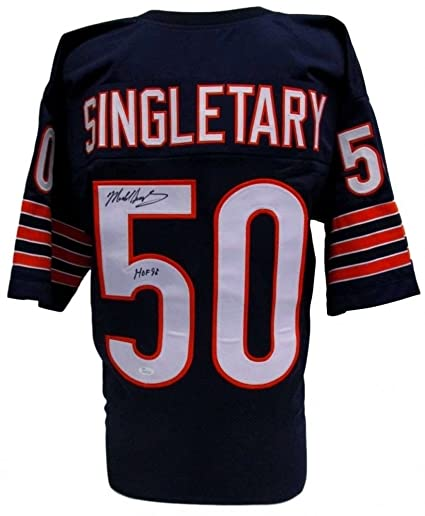 15334dbb290 Mike Singletary Autographed Signed Chicago Bears Jersey Inscribed Hof 98 -  JSA Certified