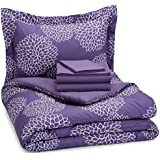 realbet20.comBasics 5-Piece Bed-In-A-Bag - Twin/Twin Extra Long, Purple Floral