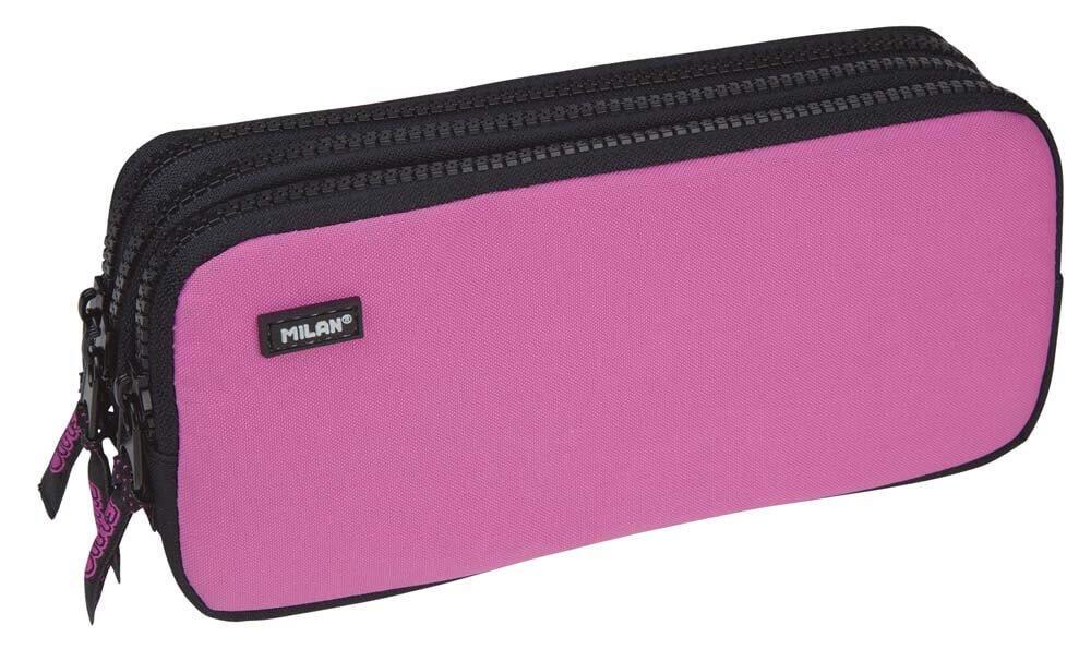 Portatodo Triple Milan Fluo Pink: Amazon.es: Oficina y papelería