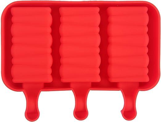 Compra KOBWA moldes de polo de hielo en espiral, palos de madera ...