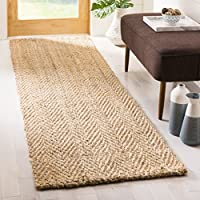 Safavieh Natural Fiber Collection NF263A Hand-Woven Natural Jute Runner (23 x 8)