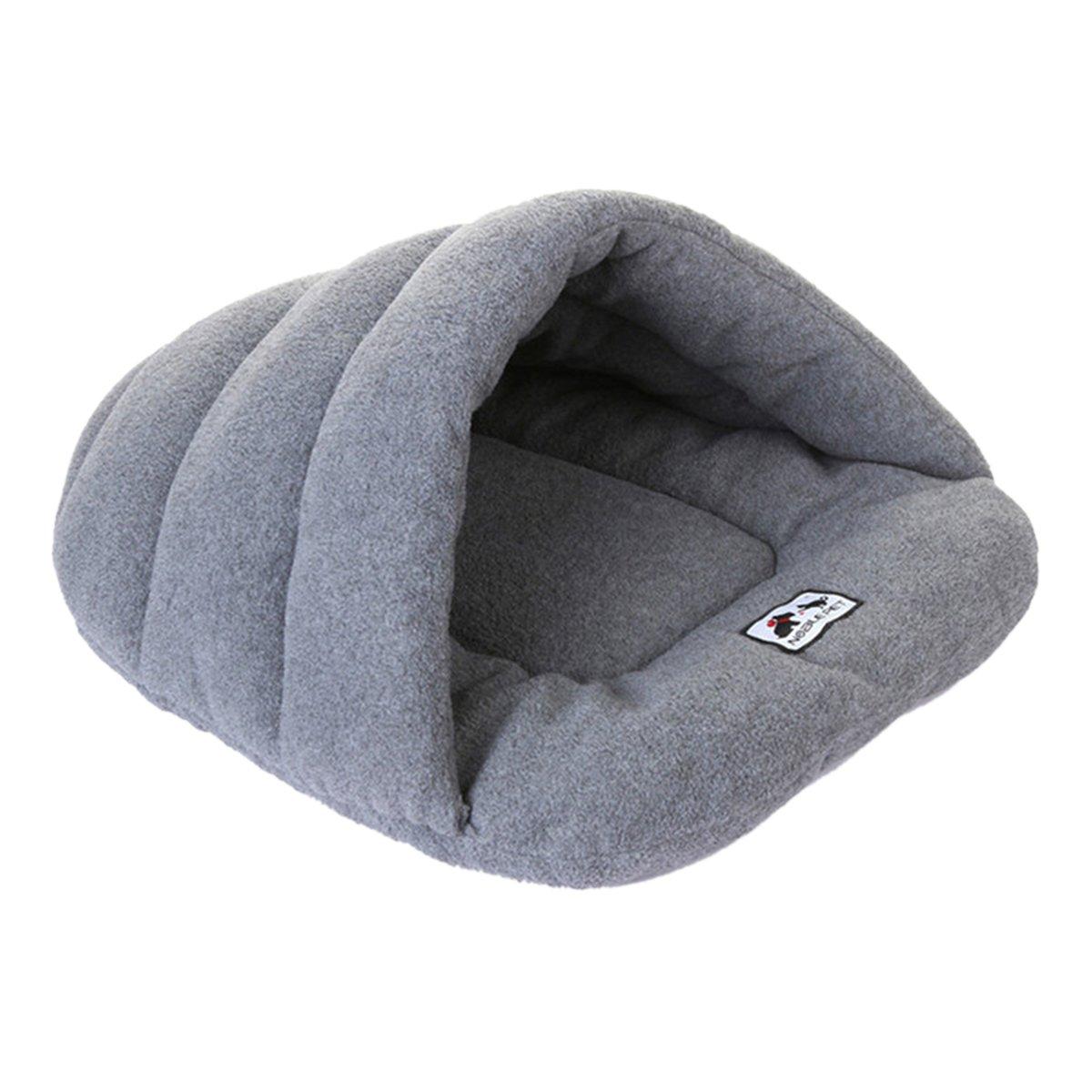 Grey L-22.8\ Grey L-22.8\ UHeng Pet Dog Cat Nest Bed Soft Warm Cave House Sleeping Mat Cushion