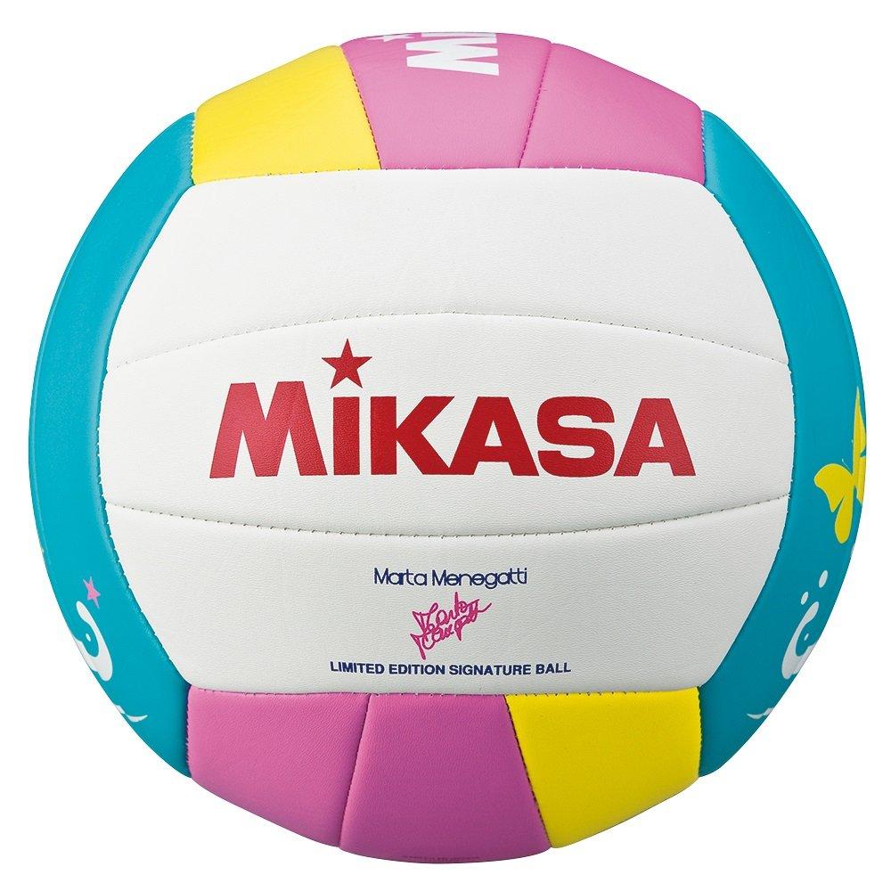 White Mikasa VMT5 Beach Volley Ball