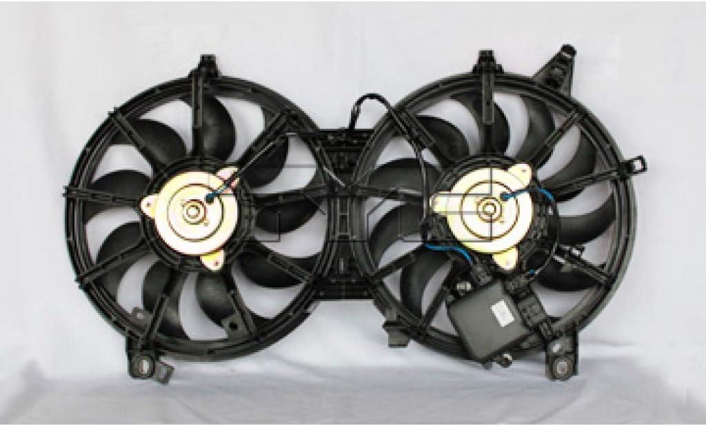 For Infiniti G37 Sedan Radiator/Condenser A/C Cooling Fan Assembly 2009 10 11 12 2013 w/Fan Control Module For IN3115108 | 21481-JK600
