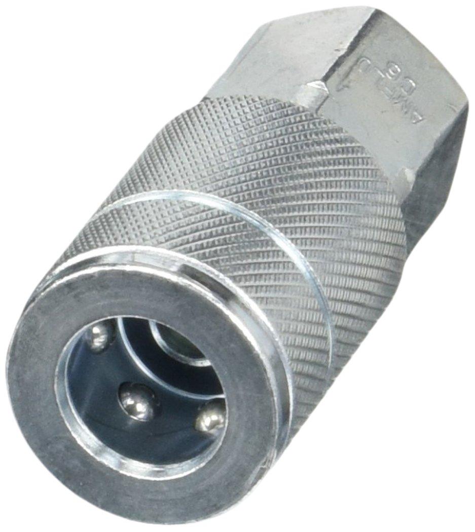 Amflo C6 Coupler Steel 3//8 TF 3//8 FNPT 3//8 TF 3//8 FNPT