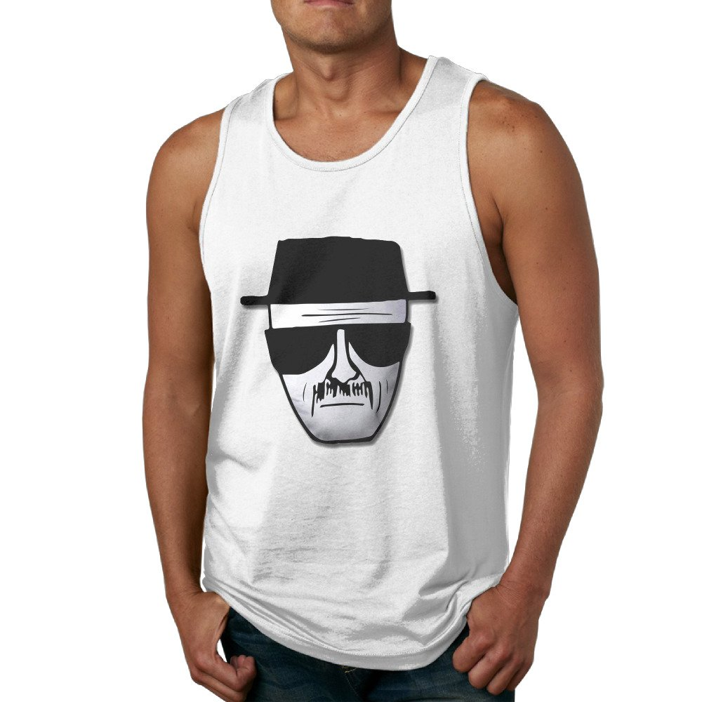 HYRONE Cute Waistcoat For Men Breaking Bad Heisenberg Logo White