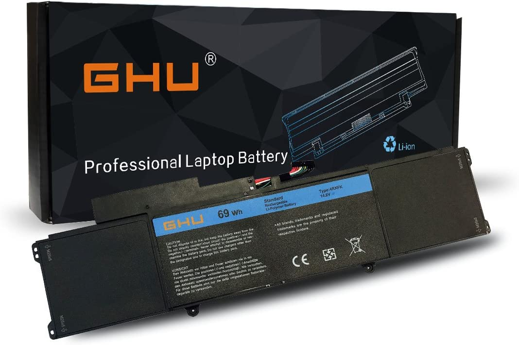 New GHU 4RXFK Battery Replacement for C1JKH FFK56 Compatible with Dell Ultrabook XPS 14 Ultrabook XPS L421 L142x 14-L421x XPS 14 L421X Series Laptop 14.8V 69Wh