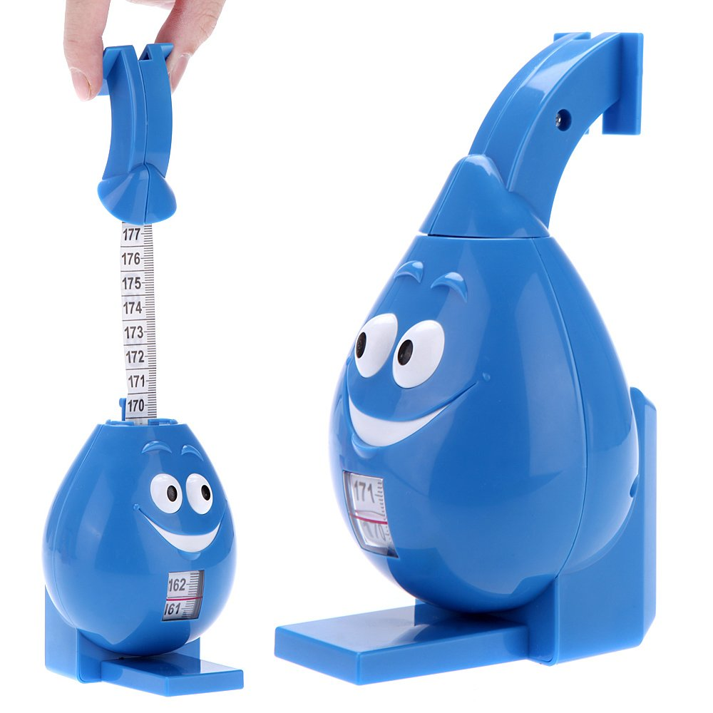Zytree(TM)Pull Down Body Growth Ruler Height Stature Meter Tape Measure for Baby Children Kids 170cm Tape Measuring