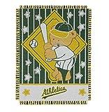 "MLB Oakland Athletics Original Woven Jacquard Baby Throw, 36"" x 46"""