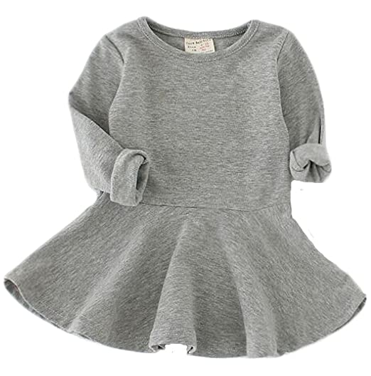 Amazon Baby Girls Long Sleeve Pleated Infant Toddler Dresses