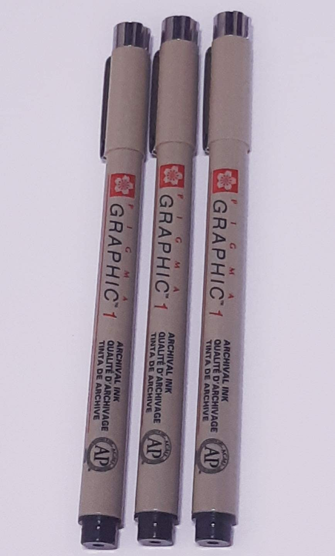 6 x fineliner archival dessin stylos-encre noire Sakura-pigma micron