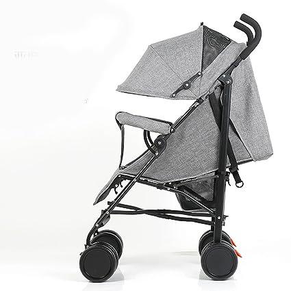 Cochecito de bebé Paisaje alto Carro plegable Muy fácil Coche portátil de cuatro ruedas redondo Carro