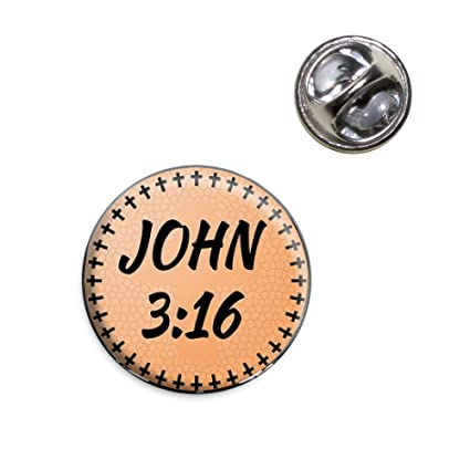Bible Verse John 3 16 Lapel Hat Tie Pin Tack