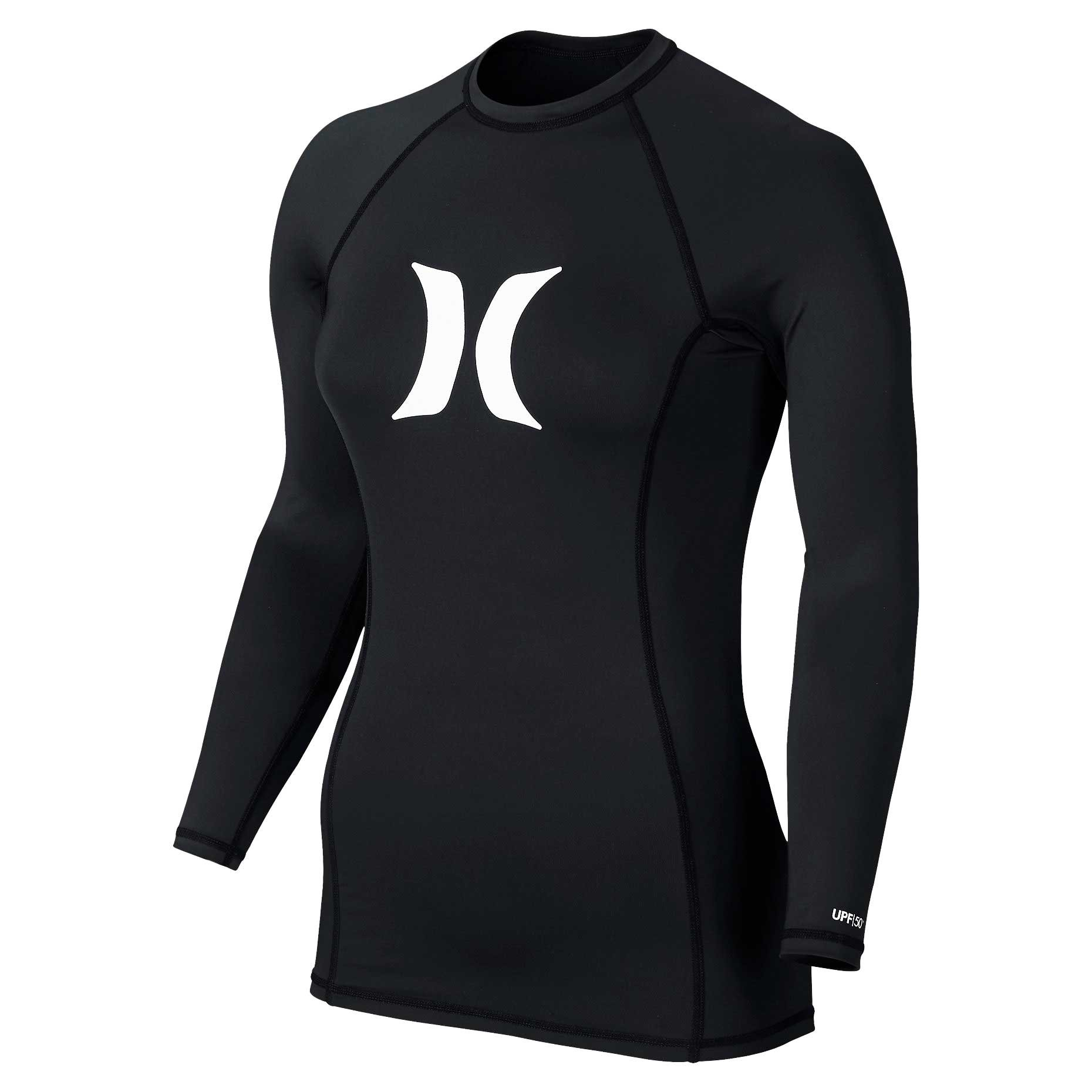 Hurley Women's One & Only LS Rash Guard - Black - M