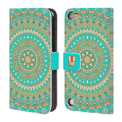 Head Case Designs Sogno Turchese Mandala Cover a portafoglio in pelle per iPod Touch 5th Gen / 6th Gen