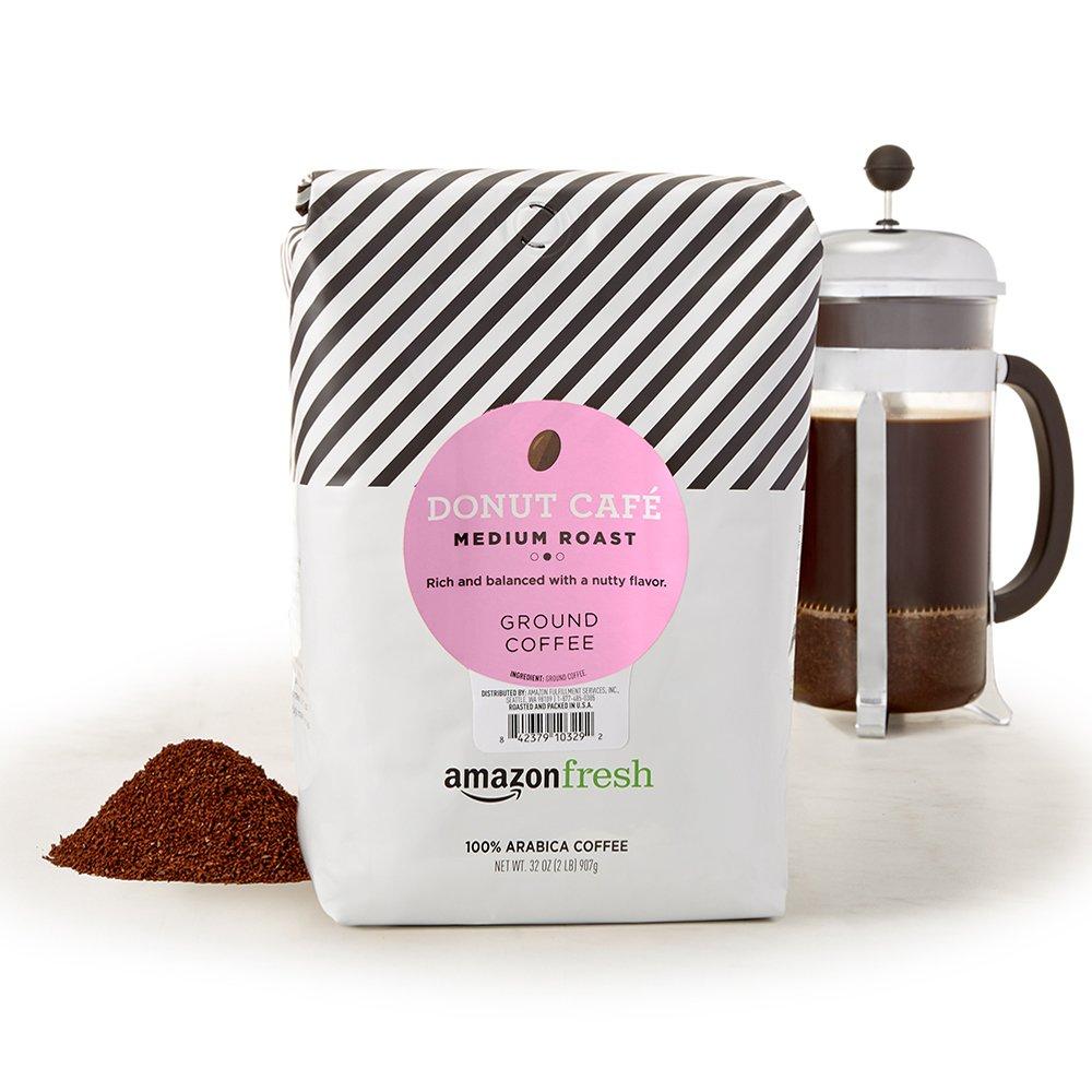 AmazonFresh Donut Cafe Ground Coffee, Medium Roast, 32 Ounce (Pack of 1)