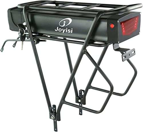 Joyisi Ebike Battery 48V 20AH Lithium ion Battery with Charger, USB Port and Taillight, Electric Bike Battery for 1000W Bike Motor Kit