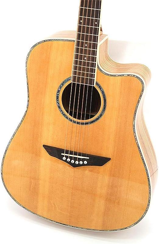 InChengGouFouX Guitarra Principiante Un Solo de Guitarra Junta Cebra Madera de Abeto Guitarra Sola para niños Adultos Uso de niños (Color : Corner Light B, Size : 41 Inches): Amazon.es: Hogar