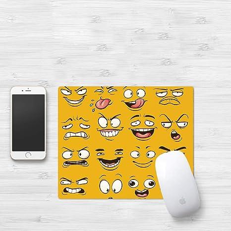 Gaming Mouse Pad, Emoji, Smiley Surprised Sad Hot Happy ...
