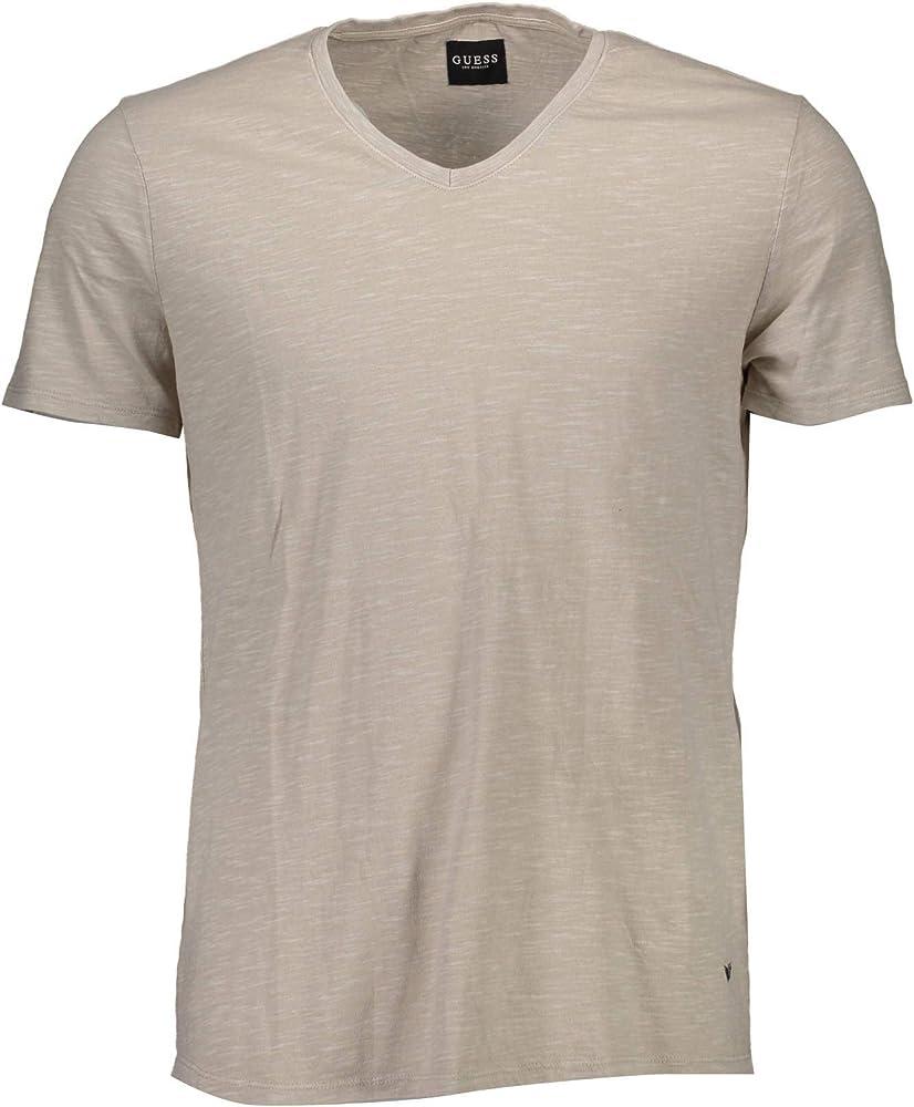 GUESS Jeans M74I65K6920 Camiseta con Las Mangas Cortas Hombre Beige B021 2XL: Amazon.es: Ropa y accesorios