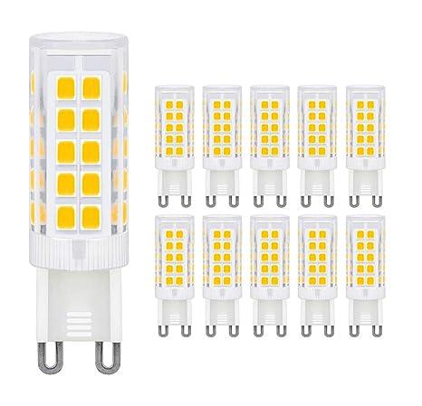 10x LED G9 Leuchtmittel Warmweiß Stecklampe 5W Ersatz für 50W Halogen Lampen