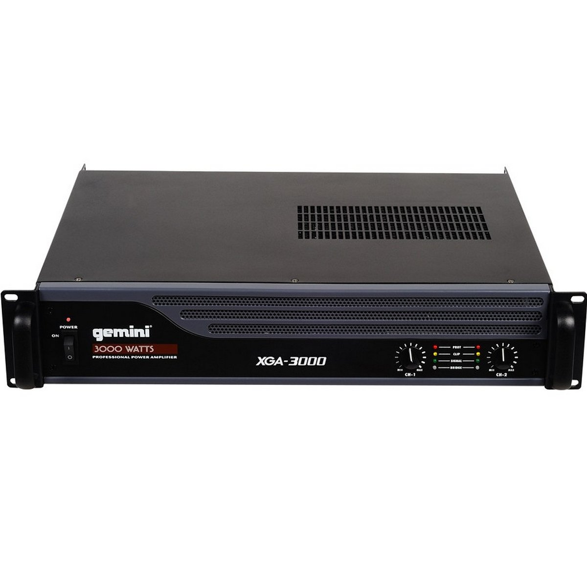 Gemini XGA Series XGA-3000 Professional Quality PA System DJ Equipment Power Amplifier with 3000 Watt Instant Peak Power